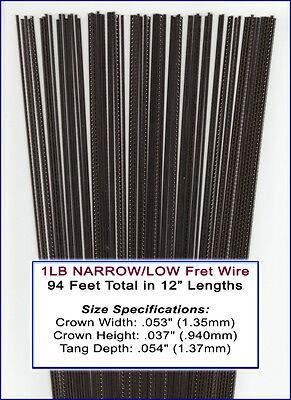 2-foot piece 3 pack StewMac Narrow Fretwire Narrow//Low