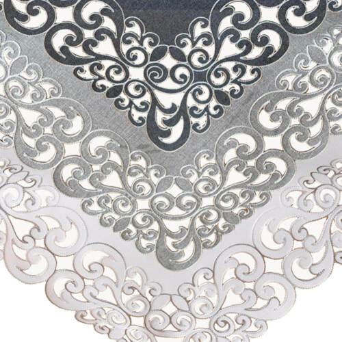 3 Farben Tischdecken Mitteldecken Stickerei Kurbelstickerei Zierkante 85x85 cm