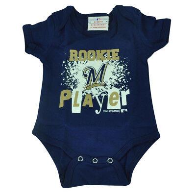 Sport Baseball & Softball Sonderabschnitt Mlb Milwaukee Brewers Wild Pferd Kleinkind Bodysuit Creeper Marineblau Baby Gute QualitäT