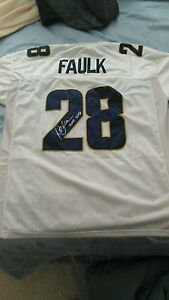 Marshall Faulk St. Louis Rams Signed XL White Jersey San Diego State ... 212c3001b