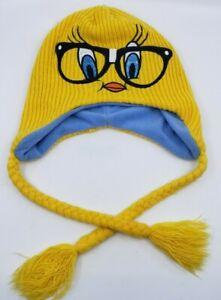 Vintage-Hipster-Tweety-Bird-Knit-Hat-Looney-Tunes