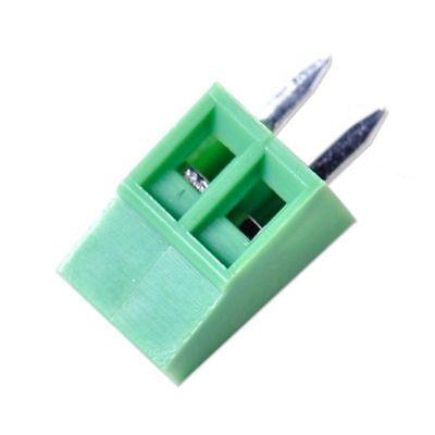 50Pcs 2.54mm Universal 2Pin 2Poles PCB Screw Terminal Block Connector Reliable