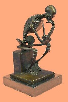 Rodin`s Thinking Man The Thinker  Bones Statue Sculpture Art Decor Figurine Sale