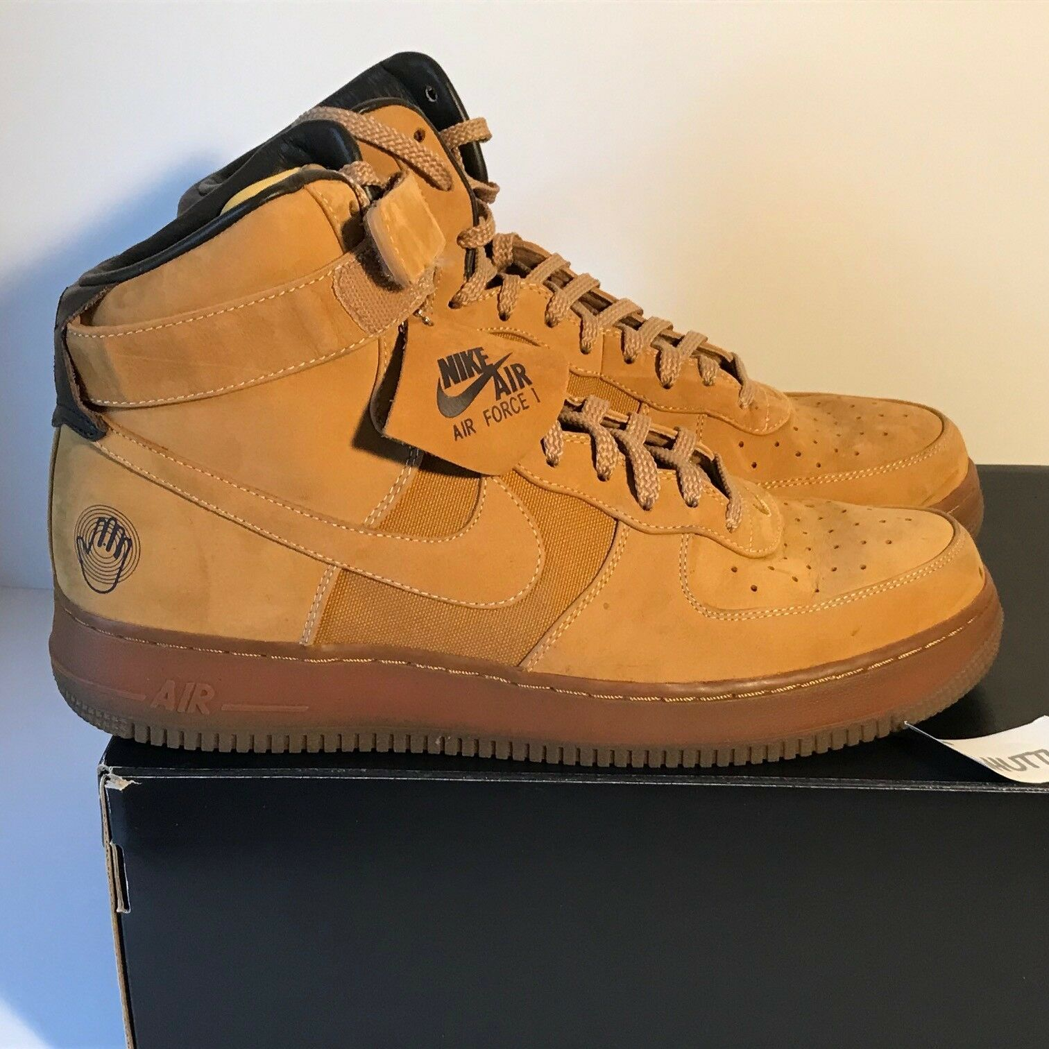 Air Force 1 One Hi Premium Sz 11.5 Bobbito Mac & Cheese 318431 771 2007 Wheat TZ