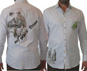 OS Trachten Herren Tracht und Freizeithemd Siggi mit Print vorne und hinten