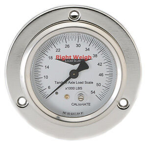 Right Weigh Load Scales 250-54-FF Flange Mount 54K Pounds