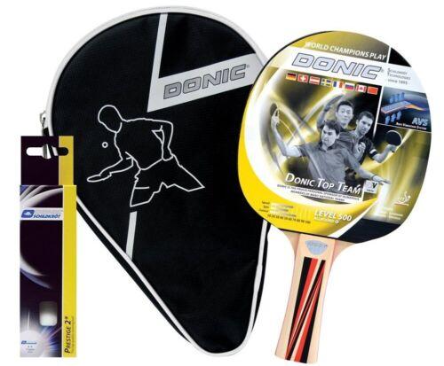 3 Bälle /&1 Tischtennisschläger /& 1 Tasche Donic Schildkröt Tischtennis Set