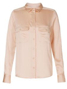 M/&S Satin Long Sleeve Shirt