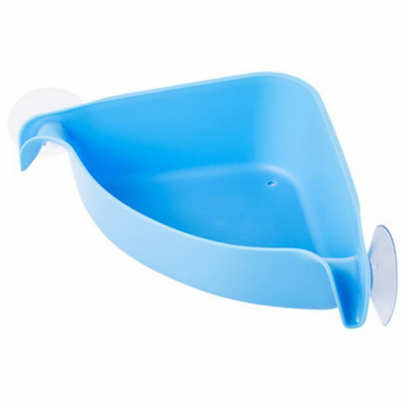 SUCTION CUP Corner Shelf Shower Basket Caddies Storage Rack Bathroom ...