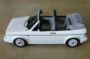 NOREV-188435-VW-GOLF-I-CABRIOLET-diecast-model-road-car-white-1992-1-18th-scale