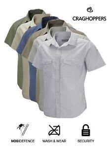 Craghoppers Mens Kiwi Short Sleeve Travel Shirt Walking Hiking NosiDefence S-4XL
