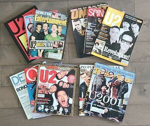 Lot of 11 Vintage U2, Bono Rolling Stone Magazines & MORE
