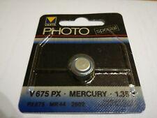 Photo Batterie Varta Special V675 PX Mercury 1.35 V MR 44 Rarität für Profis