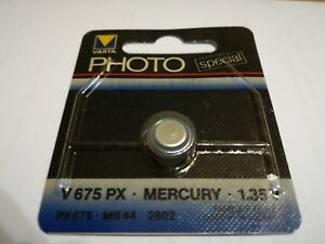 Photo-Batterie-Varta-Special-V675-PX-Mercury-1-35-V-MR-44-Raritat-fur-Profis