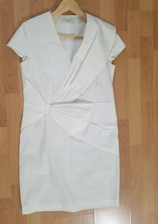 Vit klänning av Victor och Rolf, tillverkad i Italien