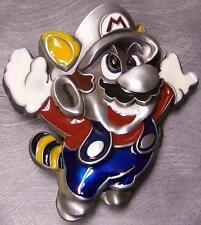 Pewter Belt Buckle Cartoon Superhero Mario sculptured N