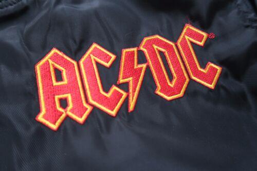 ACDC 1981 World Tour Bomber Jacket Top Coat Shirt Blazer 80s Adult Plus Size 1X