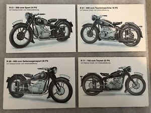 Bmw 4 Pack Motorcycle Set R51 R61 R66 R71 Postcards 1st On Ebay Car Poster Ebay