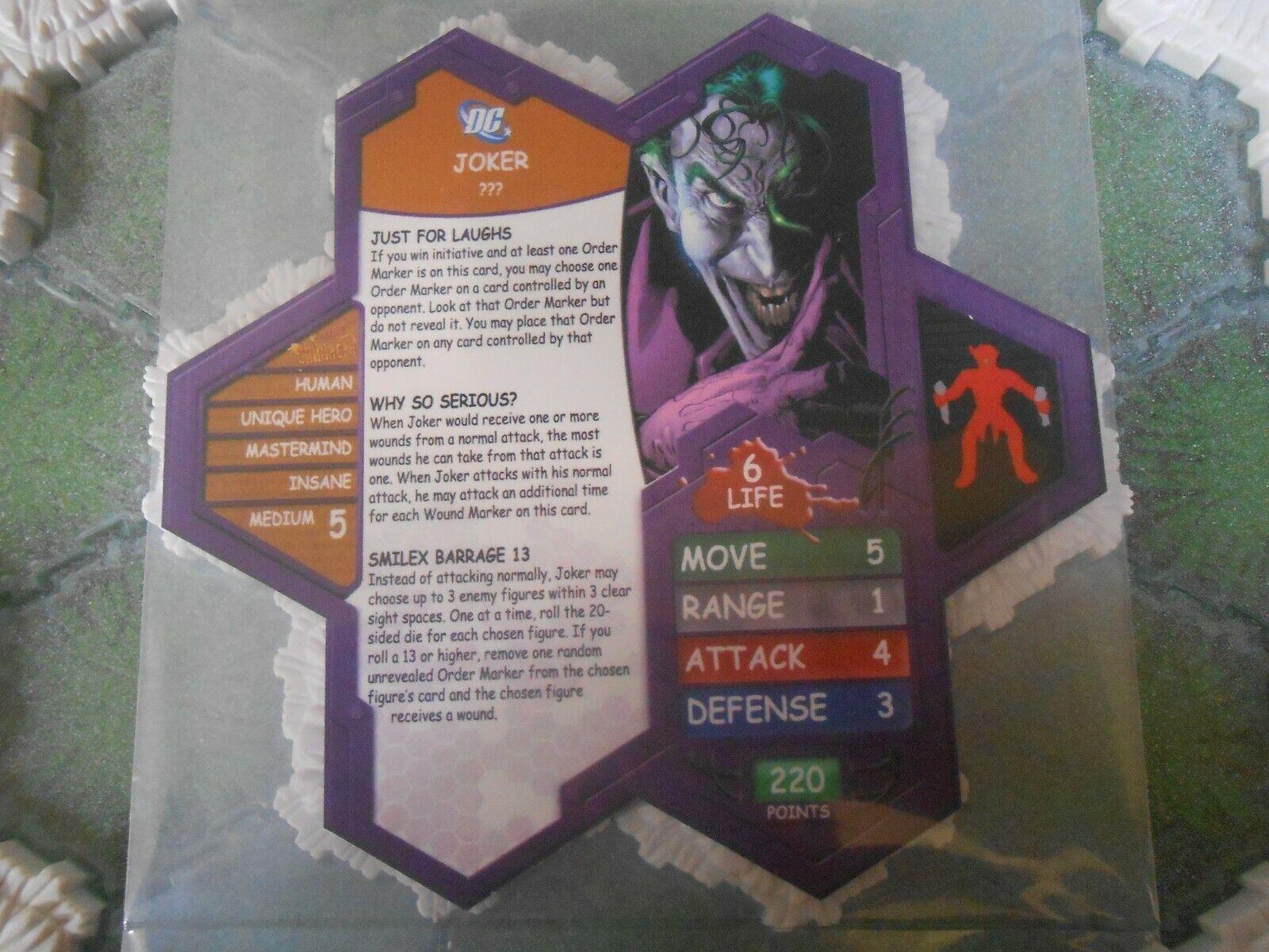 Heroscape Custom Spoiler Double Sided Card /& Figure w// Sleeve DC Batman