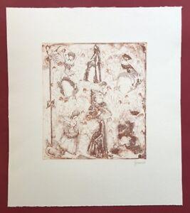 Herbert Grunwaldt, onore ballare da donna (...), acquaforte, 1988, firmato a mano