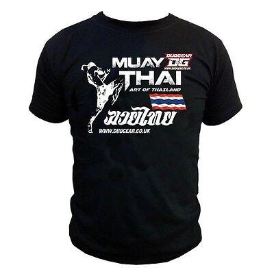 Sporting Goods Qualified Negro 'art' Muay Thai Boxeo Ufc/mma Duo Gear Camiseta De Manga Corta