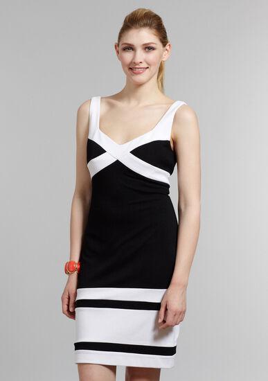 NWT US AU MUSE V-Neck Colourblock Dress Sz US4, S, AU 8-10