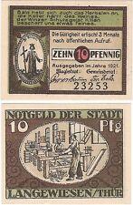 Germany 10 Pfennig 1921 Notgeld Langewiesen UNC Uncirculated Banknote