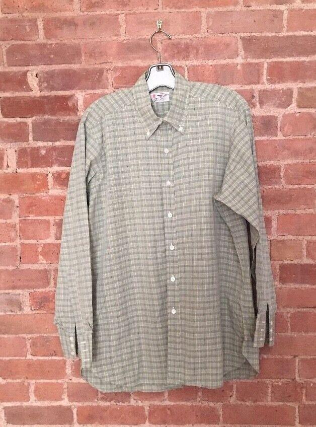 Vintage Turnbull & Asser  Herren Dress Shirt Plaid Größe 16.5