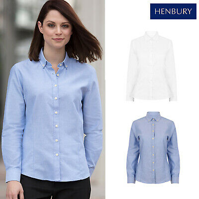 Ladies Womens Short Sleeve Oxford Shirt Blouse Smart Casual Office Business Wear