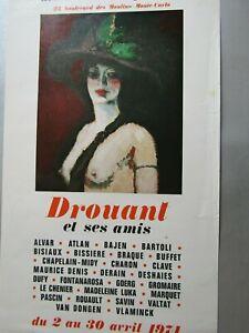 Affiche d'exposition Drouant et ses amis / Galerie des arts contemporains 1974