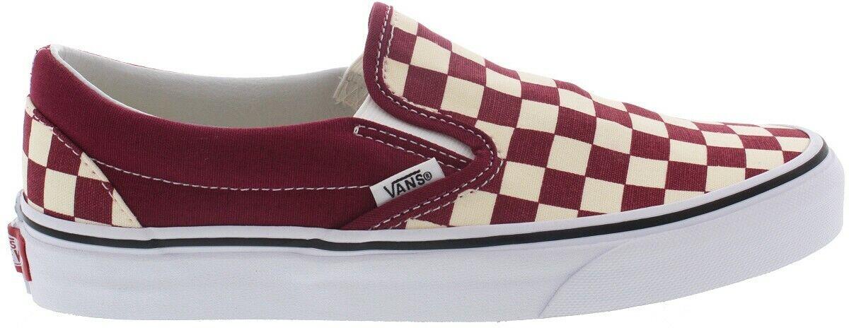 VANS VANS VANS Checkerboard Slip-On Rumba rosso Uomo Canvas scarpe da ginnastica scarpe VN0A38F7VLW 777cf8