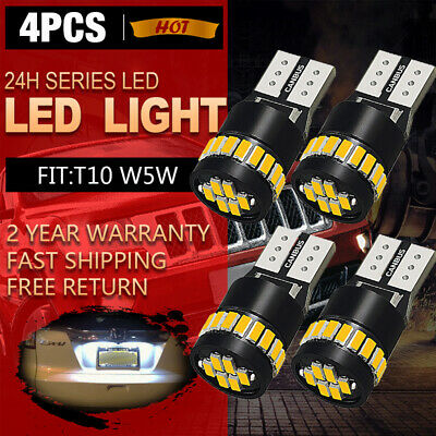 2X T10 168 2825 194 W5W LED License Plate Light Bulb 6000K Bright White 24H EA