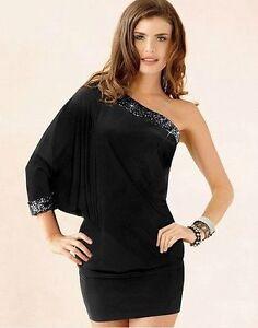 Miniabito-Vestitino-Vestito-Donna-Abito-Monospalla-4WOR-A880-Tg-Unica-veste-S-M