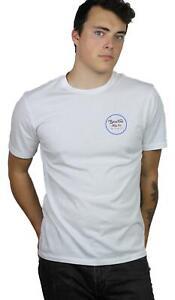 Brixton-Mens-Wheeler-II-Premium-S-S-T-Shirt-White-Blue-M-New