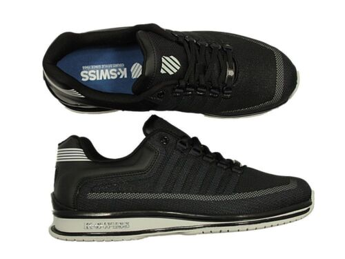 BRAND NEW MENS K.SWISS RINZLER LACE UP TRAINERS FOOTWEAR IN BLACK NAVY GREY