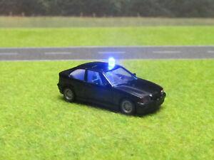 1-87-HO-BMW-323ti-Polizei-Zivil-Fahndung-12V-Blaulicht-Micro-LED-SMD-Wiking-NEU