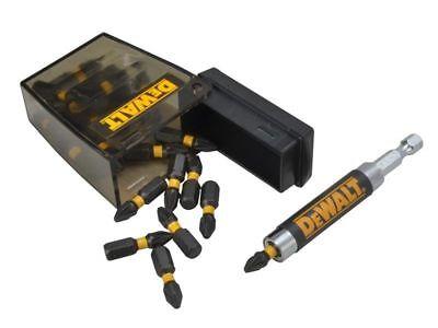 DeWalt Heavy Duty PRO 25pc Extreme Impact Torsion TIC-TAC BOX /& PZ2 Bits Set