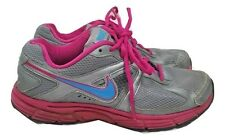 NIKE Trainers Size 5 Grey & Pink Active Running Gym Dart 9 Impact Groove Support