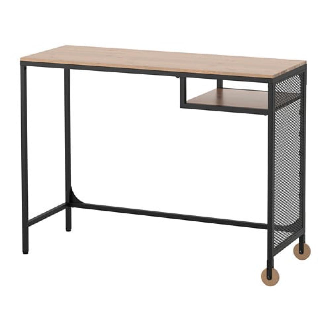 Ikea Fjallbo Desk Computer Laptop Table Black Rustic Metal Design