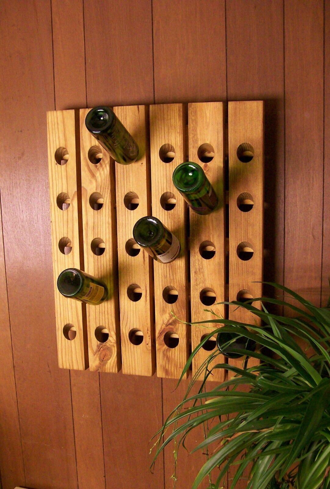 Devinette Casier à Vin 30 Bouteille fabriqué à la Main Mural Casier à vin
