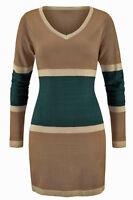 Genialer Long Pullover Gr. 44/46 Gold/beige/petrol Mini Kleid Neue Damenmode