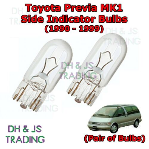 90-99 Toyota Previa Side Indicator Bulbs Pair Side Indicator Bulbs Bulb Light