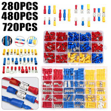 4801200pcs Crimp Spadering Terminal Insulated Electrical Wire Cable Connector