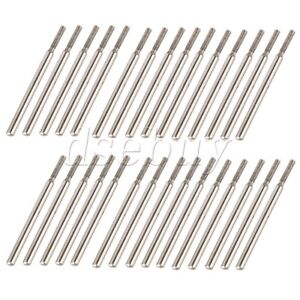 3mm Cylindrial Point Diamond Burr Glass Drill Bits for Rotary Tools Pack of 30