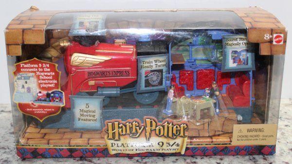 Harry Potter World of Hogwarts PLATFORM 9 3 4 PLAYSET Mattel 2001