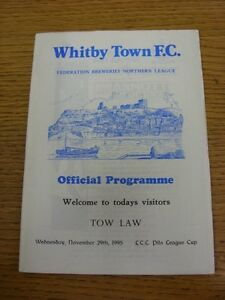 29-11-1995-Whitby-Town-v-Tow-Law-Townb-Northern-League-Cup-Excellent-Conditio