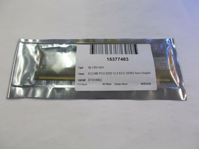 IBM 13N1424 512MB Memory RAM PC2-3200 CL3 ECC DDR2  NEW