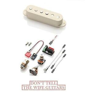EMG SV IVORY ACTIVE SINGLE COIL STRAT REPLACEMENT PICKUP /& WIRES 3 STRING SETS