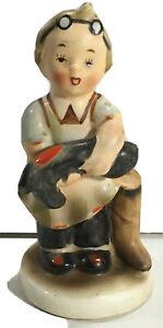 """Vintage Napco Ceramic Figurine Little Boy Cobbler """"Boots"""" #AH901 Made in Japan"""