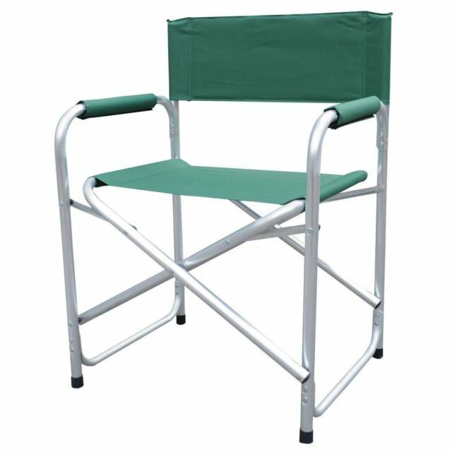 Director's Chair, Folding, for Camping Fishing Outdoors, GREEN